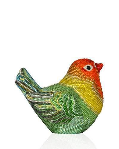 Judith Leiber Couture Bird Crystal Minaudiere Clutch Bag