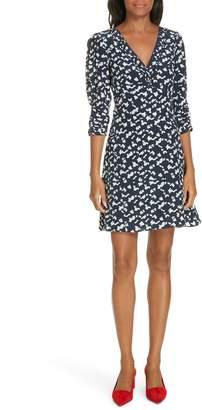Tanya Taylor Dylan Silhouette Spots Silk Dress