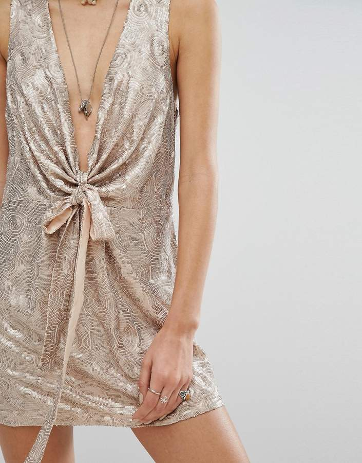 Free People Paris Rock Shiny Party Dress