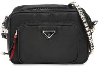 Prada New Vela Nylon Bucket Bag W/ Studs