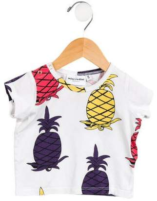 Mini Rodini Girls' Short Sleeve Pineapple Top