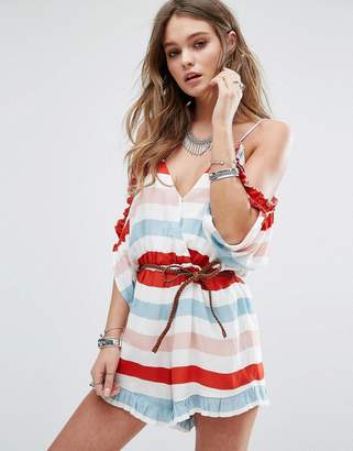 Lovers + Friends Malia Stripe Playsuit