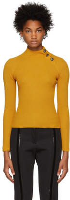 Fendi Yellow Ribbed Sweater