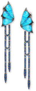 Stephen Webster Fly By Night Opalescent Quartz Dagger Drop Earrings $9,500 thestylecure.com