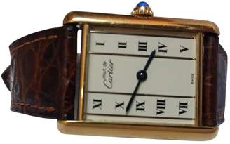 Cartier Vintage Tank Must Brown Silver Gilt Watches
