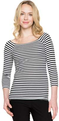 Le Château Stripe Knit Boat Neck Top