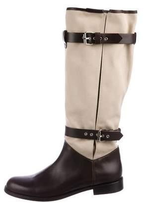 Studio Pollini Dual-Strap Knee Boots