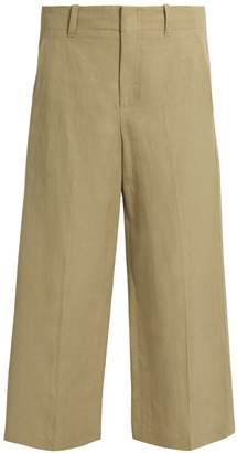 VINCE Wide-leg cropped trousers $285 thestylecure.com