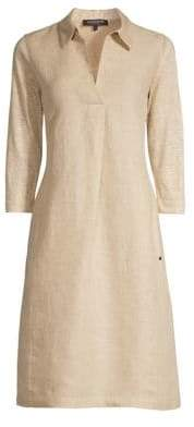 Lafayette 148 New York Women's Zac Linen Shirtdress - Sahara Melange - Size Small