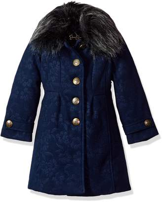 Jessica Simpson Big Girl's Navy Girls Heavyweight Single Jacket P217a21 Outerwear, navy