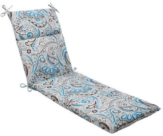 Pillow Perfect Paisley Indoor/Outdoor Chaise Lounge Cushion