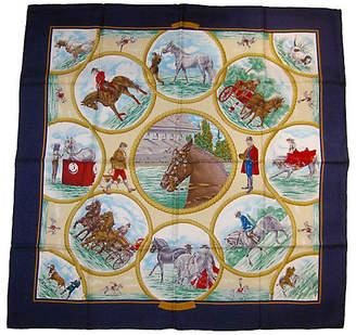 One Kings Lane Vintage Hermes Auteuil en Mai Scarf - The Emporium Ltd.