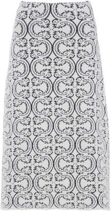 Jil Sander Printed A-Line Knit Midi Skirt