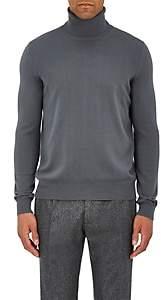 Boglioli Men's Brushed Wool Turtleneck Sweater - Gray
