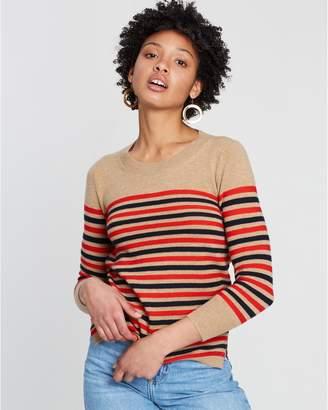 J.Crew Layla Stripe Cashmere Crew Knit