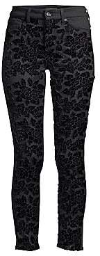 7 For All Mankind Women's Embellished Floral Ankle Skinny Jeans