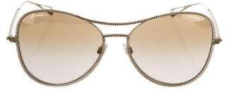 Chanel Chain-Link Aviator Sunglasses