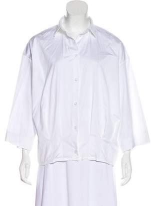 Barbara Bui Collared Button-Up Top