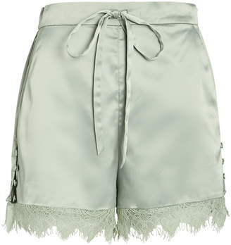 Jonathan Simkhai Night Night By Army Charmeuse Tap Shorts
