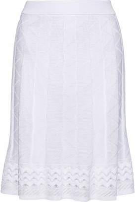 M Missoni Fluted Crochet Cotton-Blend Skirt