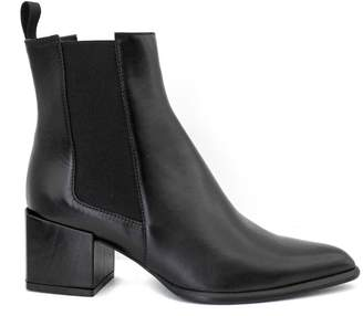 Roberto Festa Rania Ankle Boot In Black Leather.