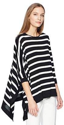 Anne Klein Women's Asymmetrical Striped Sweater