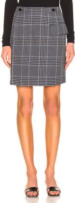 Acne Studios Ivonne Check Skirt in Navy & Navy | FWRD