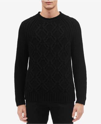 Calvin Klein Men Cable-Knit Crewneck Sweater