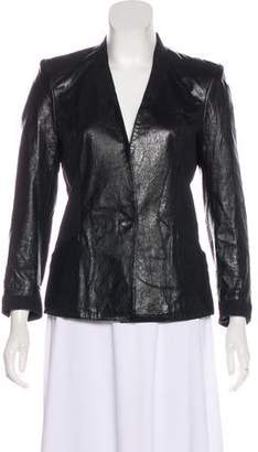 Helmut Lang Button-Up Leather Jacket