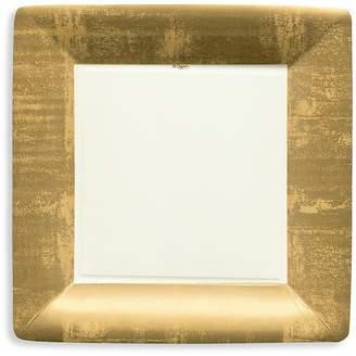 Caspari Gold Leaf Border Paper Dinner Plates, 8 Pack