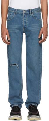 Balenciaga Blue Knee Hole Archetype Jeans