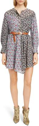 Etoile Isabel Marant Lissande Print Fit & Flare Dress