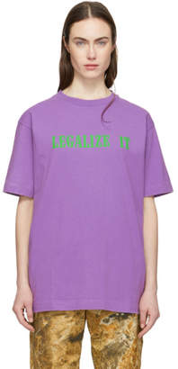 Palm Angels Purple Legalize It T-Shirt