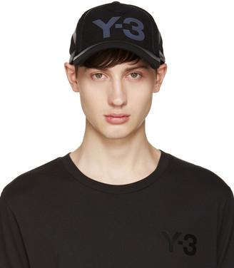 Y-3 Black Constr Cap $100 thestylecure.com