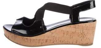 Fendi Patent Leather Slingback Wedges