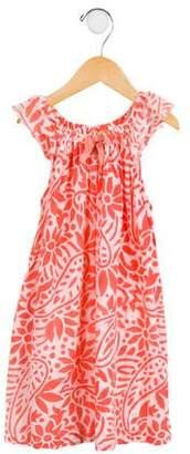 Roberta Roller Rabbit Girls' Floral Print Cap Sleeve Dress