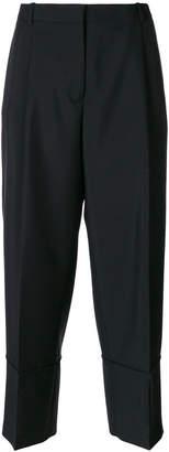 Jil Sander cropped wide leg tailored trousers