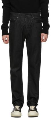 Rick Owens Black Wax Detroit Jeans