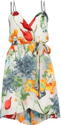 Alice + Olivia Susana Multi-Strap Mock Wrap Dress