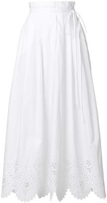 Ermanno Scervino full scallop trim maxi skirt