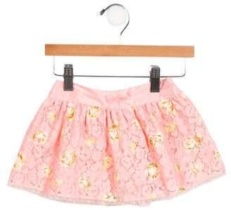 Blumarine Girls' Printed Lace Skirt w/ Tags