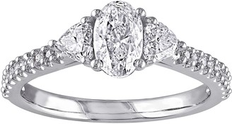 Affinity Diamond Jewelry Oval, Heart, & Round Diamond Ring, 1 cttw, 14Kby Affinity