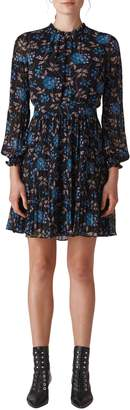 Whistles Elderberry Print Dobby Dress
