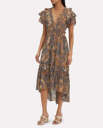 Ulla Johnson Cicely Printed Cotton Midi Dress
