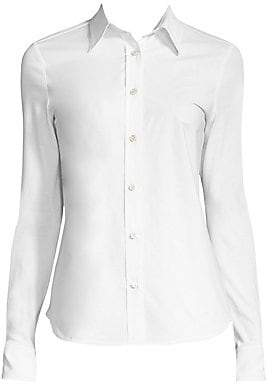 Derek Lam Women's Stretch Cotton Button-Down Shirt