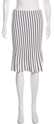 J.W.Anderson Striped Knee-Length Skirt