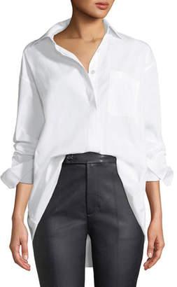 Helmut Lang Oversized Button-Down Poplin Shirt
