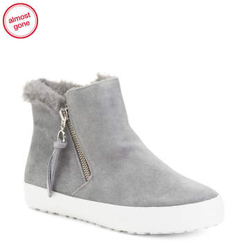 Sherpa Lined Suede Sneakers