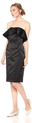Paris Sunday Women's Strapless Sateen Sheath Dress