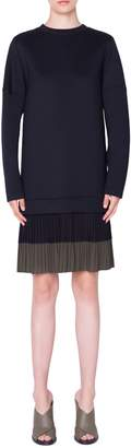 Akris Punto Pleated Hem Sweatshirt Dress